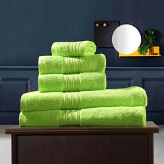 毛巾浴巾 梵高毛浴巾三件套 鲜绿