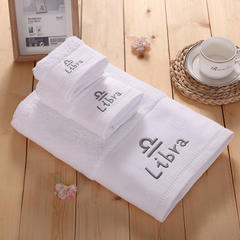 毛巾浴巾 十二星座十二月绣花系列毛浴巾 星座套装 狮子座
