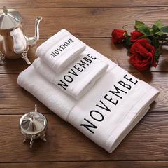 毛巾浴巾 十二星座十二月绣花系列毛浴巾 方巾35*35cm 十一月