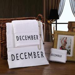毛巾浴巾 十二星座十二月绣花系列毛浴巾 毛巾35*75cm 十一月份