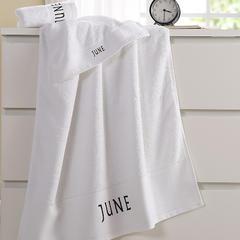 毛巾浴巾 十二星座十二月绣花系列毛浴巾 毛巾35*75cm 六月份