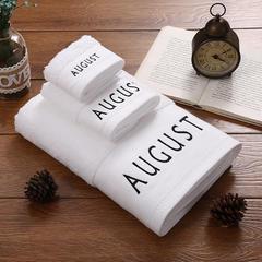 毛巾浴巾 十二星座十二月绣花系列毛浴巾 月份套装 八月份
