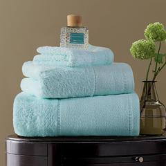 毛巾浴巾 素色印度棉系列 方巾35*35cm 淡蓝色