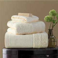 毛巾浴巾 素色印度棉系列 方巾35*35cm 奶油黄