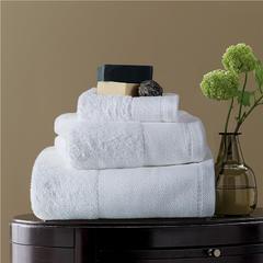 毛巾浴巾  素色印花棉系列套装 莹白