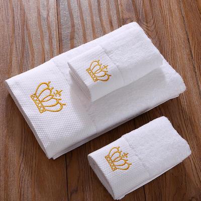 毛巾浴巾 五星酒店铂金锻系列毛浴巾套装 皇冠三件套