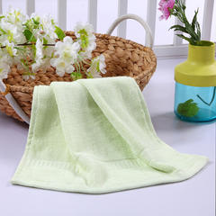 毛巾浴巾 西班牙彩虹系列 方巾34*34cm 淡绿