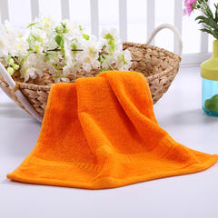 毛巾浴巾 西班牙彩虹系列 方巾34*34cm 橘色