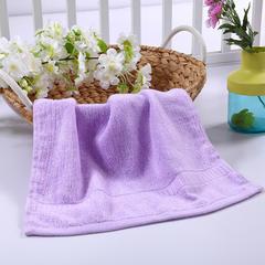 毛巾浴巾 西班牙彩虹系列 方巾34*34cm 嫩紫