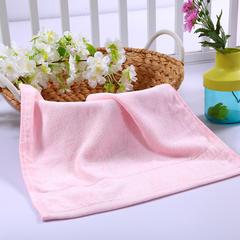 毛巾浴巾 西班牙彩虹系列 方巾34*34cm 浅粉