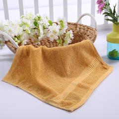 毛巾浴巾 西班牙彩虹系列 方巾34*34cm 土黄
