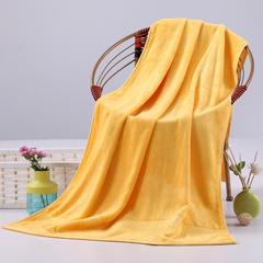 毛巾浴巾 西班牙彩虹系列毛浴巾 浴巾70*140cm 金黄