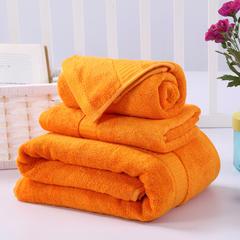 毛巾浴巾 西班牙彩虹系列毛浴巾套装 橘色