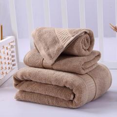 毛巾浴巾 西班牙彩虹系列毛浴巾套装 卡其