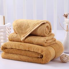 毛巾浴巾 西班牙彩虹系列毛浴巾套装 土黄