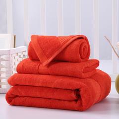 毛巾浴巾 西班牙彩虹系列毛浴巾套装 洋红