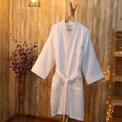 酒店浴袍 全棉华夫格毛圈浴袍 m(适合160斤以下,114cm衣长*5 金丽丝