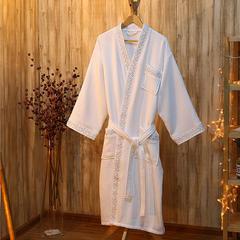 酒店浴袍 全棉华夫格毛圈浴袍 l(适合210斤以下,122cm衣长*6 银丽丝