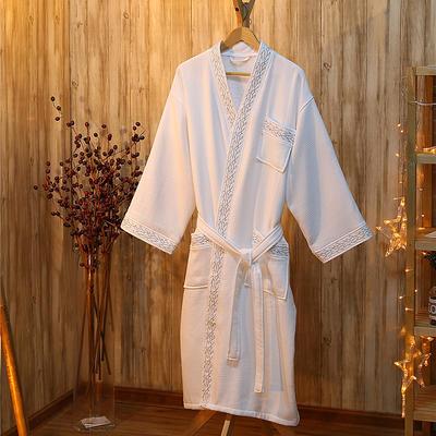 酒店浴袍 全棉华夫格毛圈浴袍 m(适合160斤以下,114cm衣长*5 银丽丝