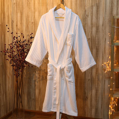 酒店浴袍 威斯汀酒店风格浴衣 m(适合160斤以下,114cm衣长*5 缪斯(条纹)