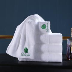新款酒店铂金段毛巾浴巾套巾 绿叶