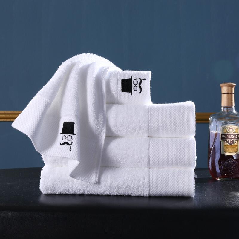 新款酒店铂金段毛巾浴巾套巾