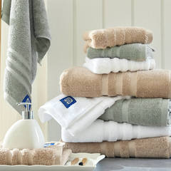 伯爵系列 五星级酒店毛浴巾系列 白色毛巾35*75 160克