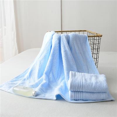 毛巾浴巾 云淡风情 蓝色毛巾