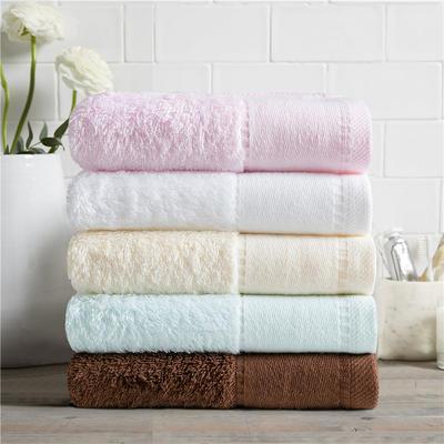 毛巾浴巾  素色印花棉系列套装 咖啡方巾