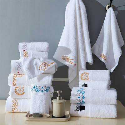 五星级酒店铂金缎毛巾浴巾