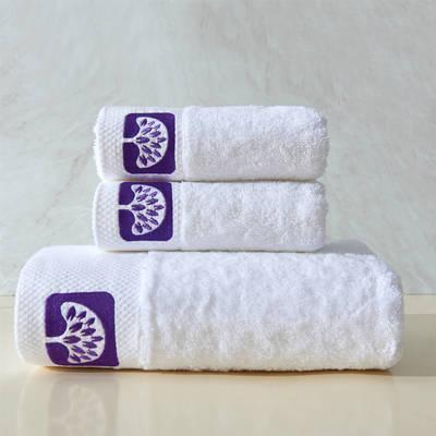 毛巾浴巾 五星酒店铂金锻系列毛浴巾套装 幸运树三件套