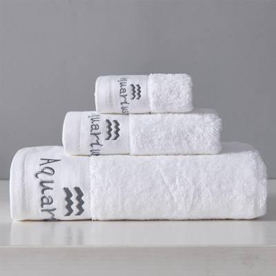 12星座方巾毛巾浴巾三件套 水瓶座