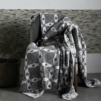 2019新款全棉针织毯 130*160cm 格诺