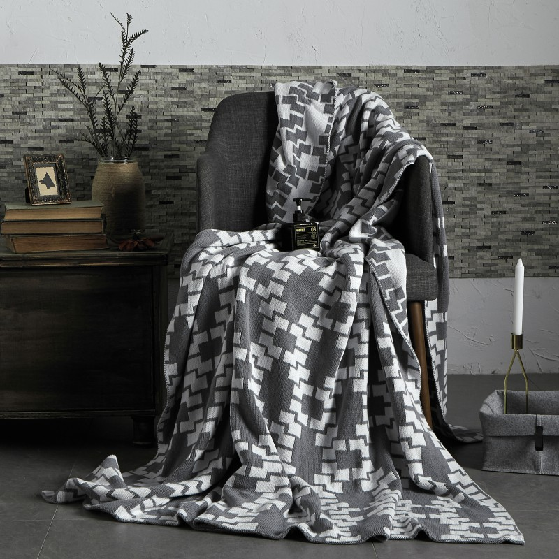 2019新款全棉针织毯