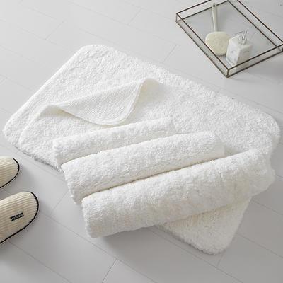 五星级酒店全棉长毛地垫地巾强吸水耐用 50*80cm 长毛地垫
