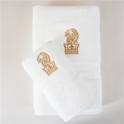 丽思卡尔顿超五星级酒店加大加厚瞬吸毛巾浴巾狮子头系列 金标面巾