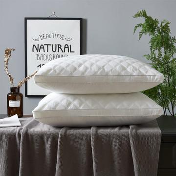 酒店立体边绗缝羽丝绒枕头枕芯护颈枕可水洗枕芯