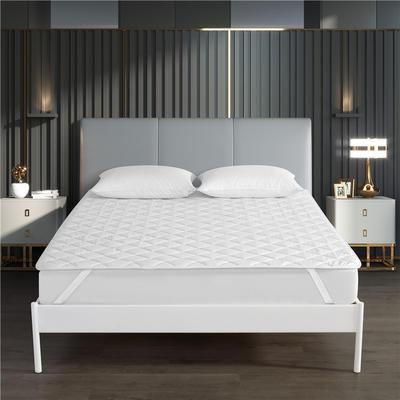 酒店宾馆磨毛保护垫 1.5m(5英尺)床 白色