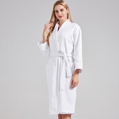 新款高级双层浴袍 M 白色