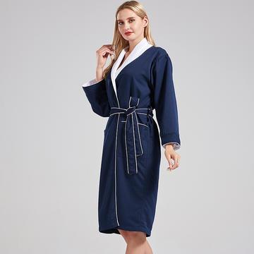 新款高级双层浴袍