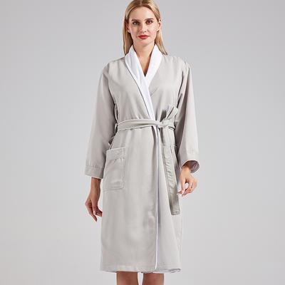 新款高级双层浴袍 M 万豪灰