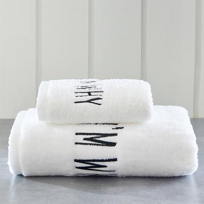 新款Why系列32进口精梳棉毛巾浴巾 白色毛巾35*75cm