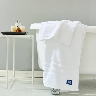 新款伯爵16S精梳棉条纹系列毛巾浴巾 白色35*75毛巾