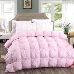 柔赛丝羽绒被冬被 200X230cm(6.6斤) 粉色