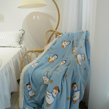 2021秋冬新品牛奶绒羊羔绒毛毯双层盖毯
