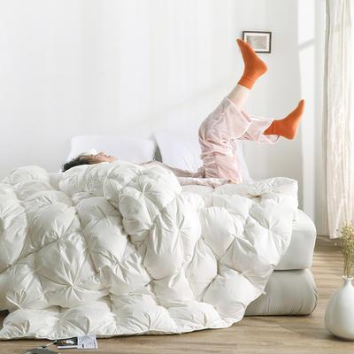 高品质扭花【70】白鹅绒被 200X230cm 白色