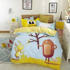 13372纯棉三件套 1.5m(5英尺)床 萌宠时代