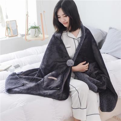 22018新款-时尚多功能懒人毯 45*140cm 绅士黑