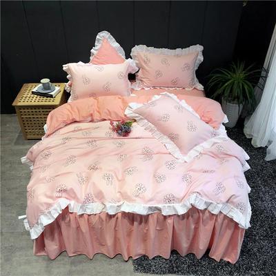 2019新款-韩式床裙少女公主风四件套(实拍图) 床单款三件套1.2m(4英尺)床 巴比兔