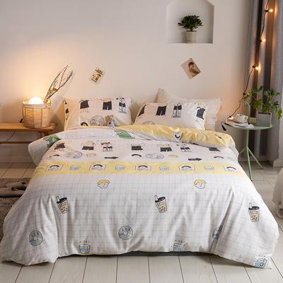 2020新款-【实拍-二次元日系】四件套 床单款三件套1.2m(4英尺)床 奶茶乐队